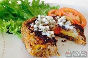 Hambúrguer vegetal recheado