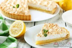 Torta de limão de liquidificador especial
