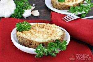 Batata recheada com queijo