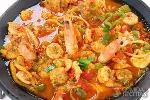 Paella de frutos do mar