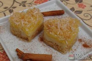 Torta de coco crocante