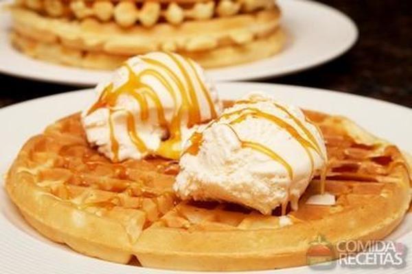 receita de waffle doce