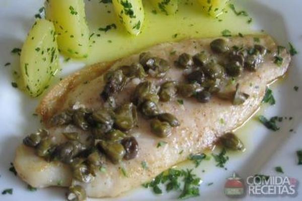 Receita de til pia ao molho de alcaparras comida e receitas for Comida para tilapia