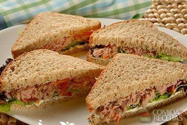 Sanduíche fácil de atum - Comida e Receitas