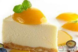 Cheesecake diet de pêssego
