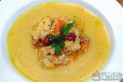 Polenta com bacalhau