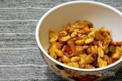 Frango Xadrez com Amendoim