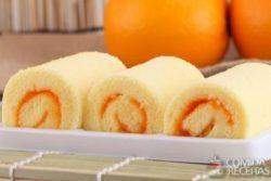 Rocambole saboroso de laranja