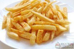 Batata frita sequinha e crocante