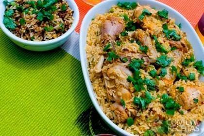 Capote com arroz