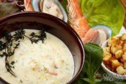 Sopa creme de camarão