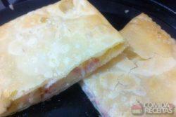 Pastel de presunto e queijo