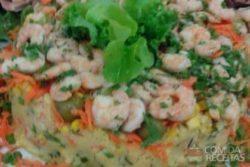 Cuscuz de camarão delícia