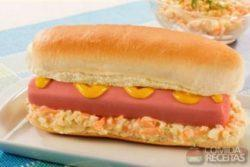 Hot dog refrescante