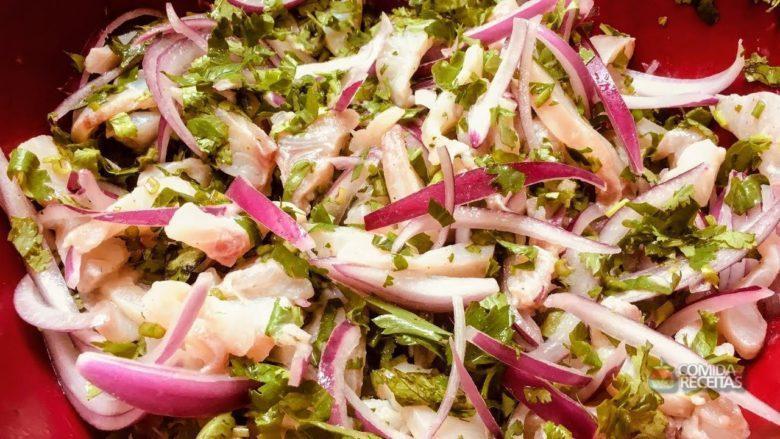 Ceviche de tilápia