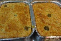 Torta de frango com massa crocante