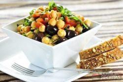 Salada de grão de bico diferente