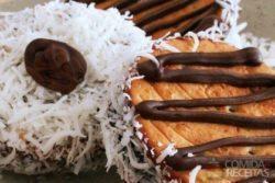Biscoito recheado com trufa de chocolate