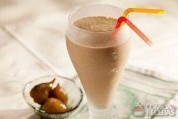 Shake de cappuccino com figo em calda