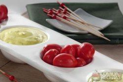 Dip de mandioquinha com gorgonzola