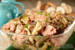 Mix de cogumelo com cebolinha e atum