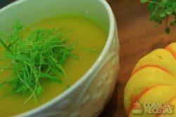 Creme frio de abóbora, gengibre e laranja
