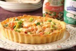 Torta fria de palmito e legumes
