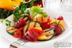 Legumes grelhados especiais