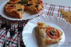 Pizza de macarrão especial