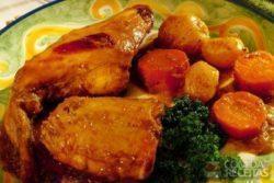 Coelho cozido com legumes