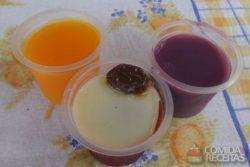Gelatina de legumes (cenoura, batata doce e beterraba)