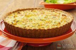 Quiche de cream cracker e legumes