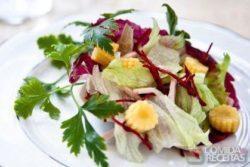 Salada de mini milho e peito de peru