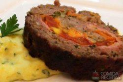 Rocambole de carne moída especial