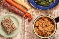 Salada de quinoa com lentilha