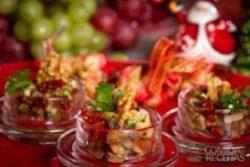Mini salada de berinjela e abobrinha