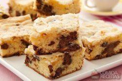 Brownie de chocolate branco