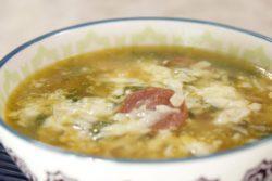 Caldo verde com arroz