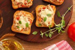 Minipizza light de atum