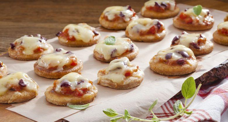 Mini pizza de frigideira