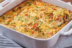 Omelete com legumes ao forno
