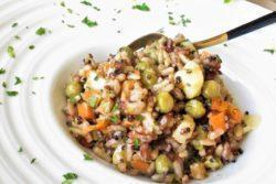 Arroz de forno com seleta de legumes