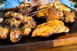 Churrasco com peito de frango