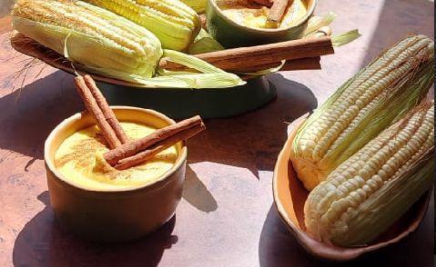 Curau de milho verde saboroso