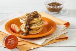 Pancake com purê de lungo e maçã