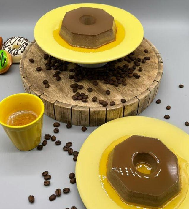 Pudim de café com leite e baunilha