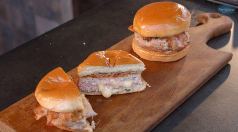 Hambúrguer com alcatra suína
