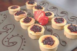 Cheesecake de frutas vermelhas gourmet