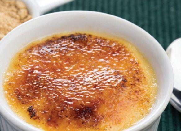 Crème brulèe com gengibre