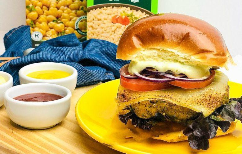 Hambúrguer de falafel
